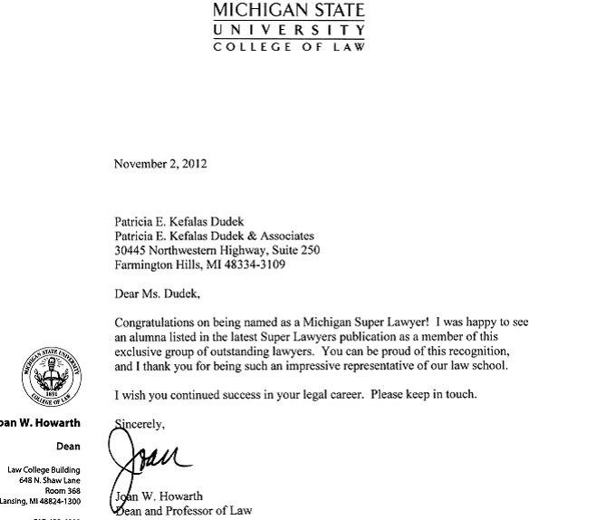 Msu letter